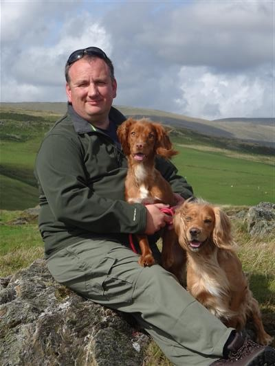 Gary with Cocker Spaniels